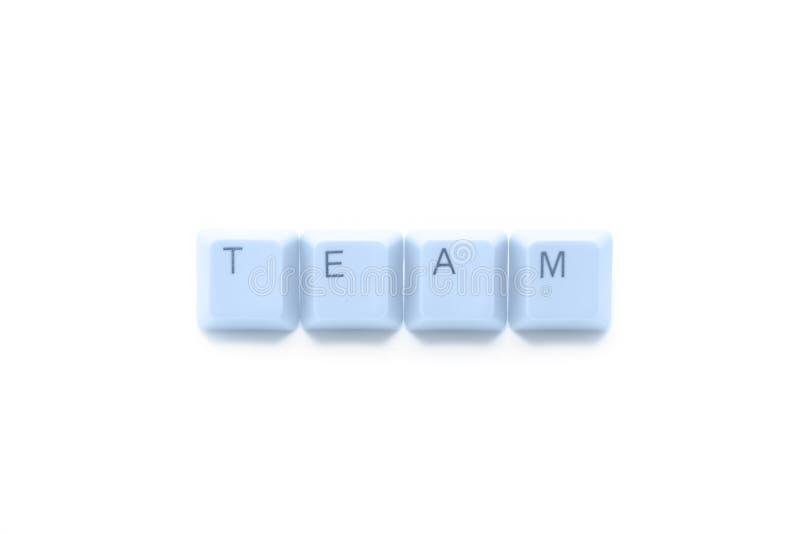 Lavoro di squadra in Internet fotografia stock