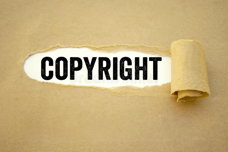 Lavoro di ufficio con il copyright immagini stock