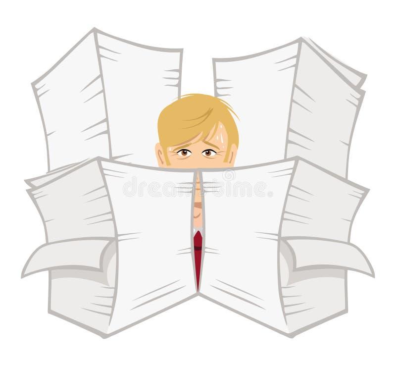 Lavoro di ufficio del tirante dell'ufficio royalty illustrazione gratis