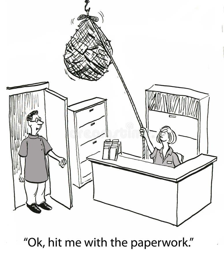 Lavoro di ufficio di assicurazione illustrazione vettoriale