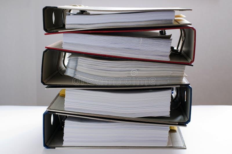 Lavoro di ufficio - dispositivi di piegatura 1 fotografie stock libere da diritti