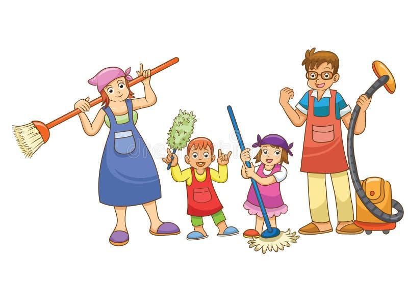 Lavoro domestico illustrazione vettoriale