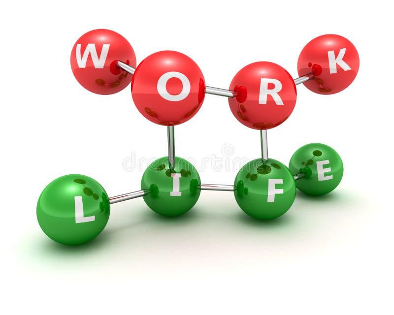 Lavoro e vita royalty illustrazione gratis