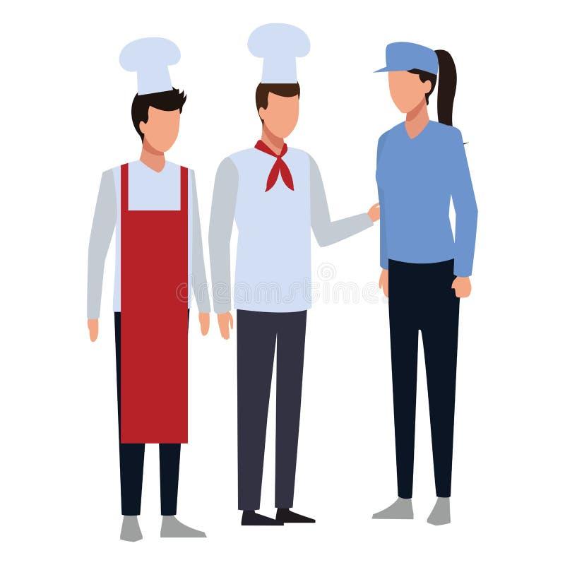 Lavoro ed occupazione della gente illustrazione vettoriale