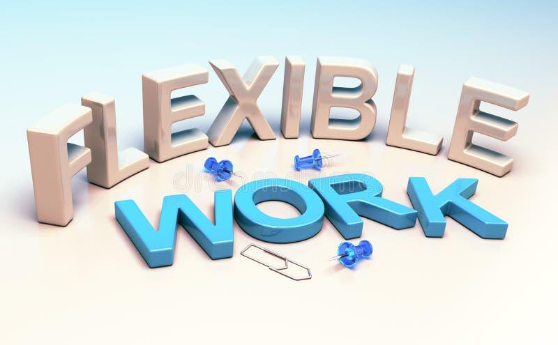 Lavoro flessibile, flessibilità del posto di lavoro illustrazione vettoriale