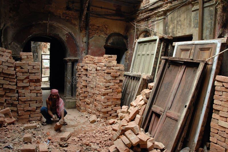 Lavoro migratore in India fotografie stock libere da diritti