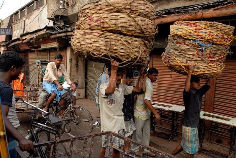 Lavoro migratore in Kolkata fotografia stock libera da diritti