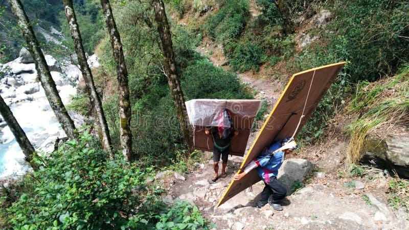 Lavoro nepalese duro fotografia stock