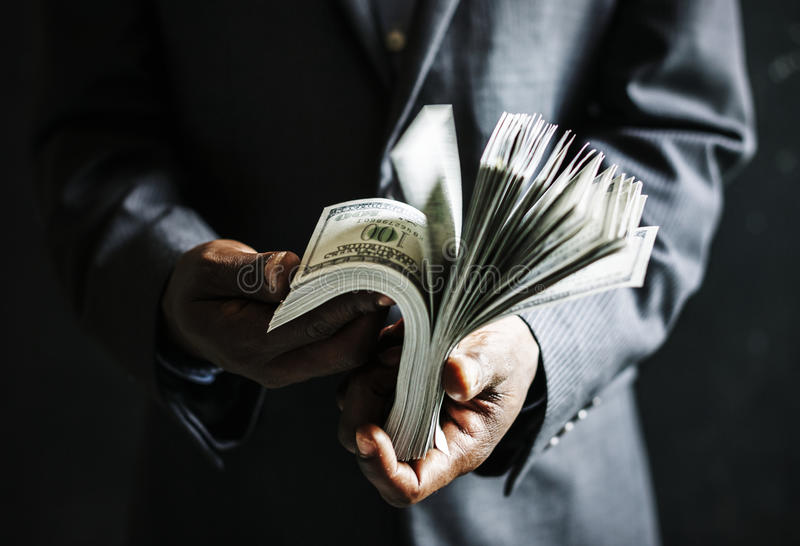 Lavoro Rich Success di affari di soldi fotografia stock