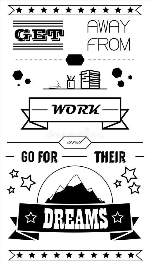 Lavoro tipografico del manifesto illustrazione di stock