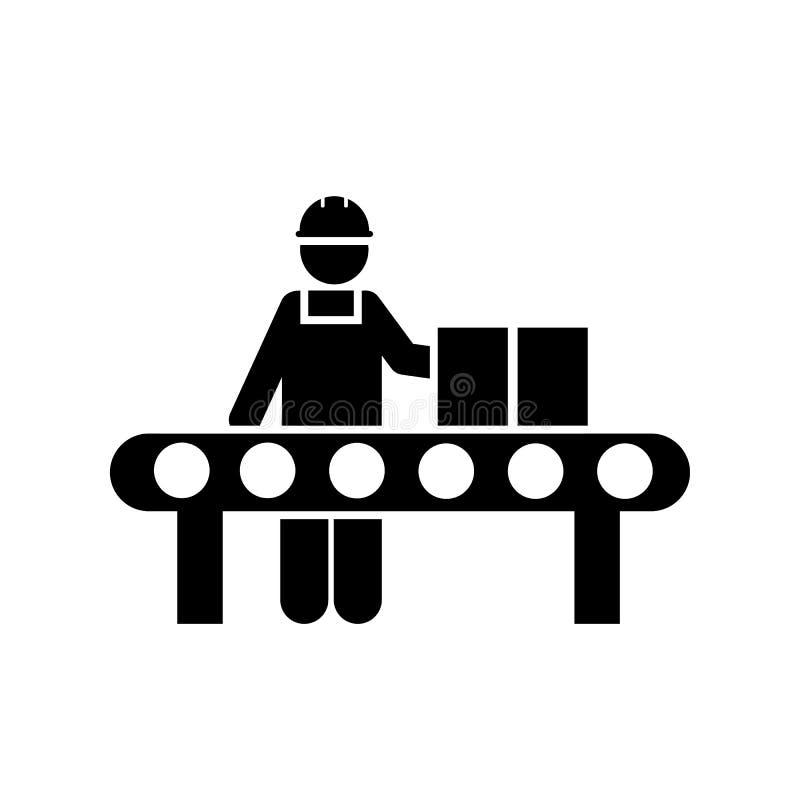 Lavoro, trasportatore, produzione, icona della fabbrica Elemento dell'icona fabbricante Icona premio di progettazione grafica di  royalty illustrazione gratis
