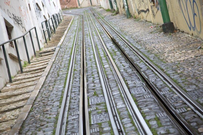 Lavra Elevador; Lisbon. Lavra Elevador in Lisbon; Portugal; Europe royalty free stock photos