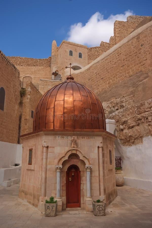 Lavra santamente de St Savas no Jerusalém fotografia de stock