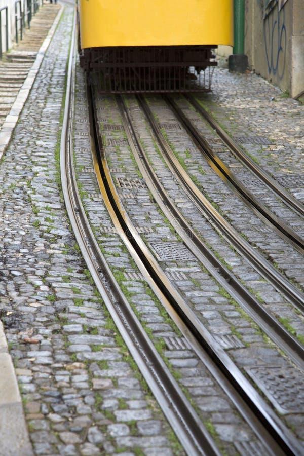 Lavra Tram Elevador; Lisbon;. Portugal; Europe stock photos