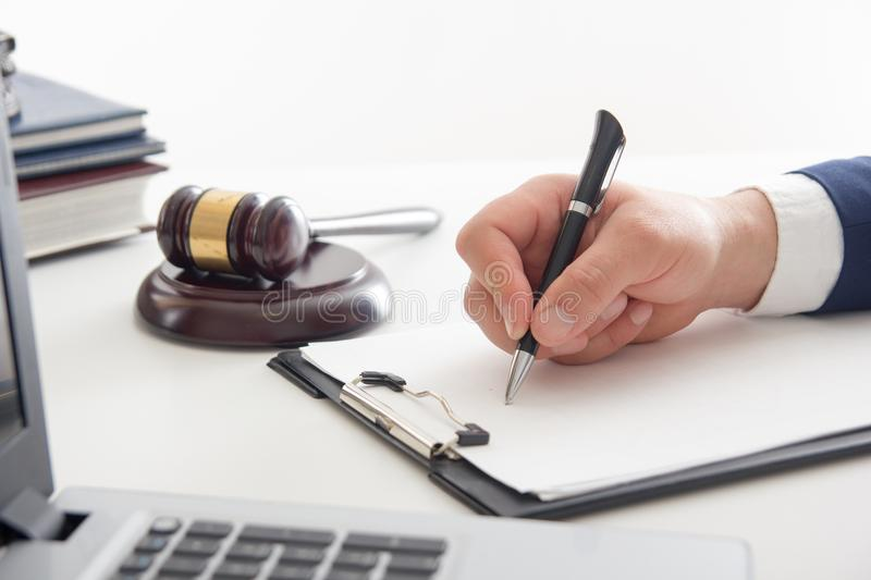 Law, advice and Legal services concept. Lawyer and attorney having team meeting at law firm. Law, advice and Legal services concept. Lawyer and attorney having stock photos