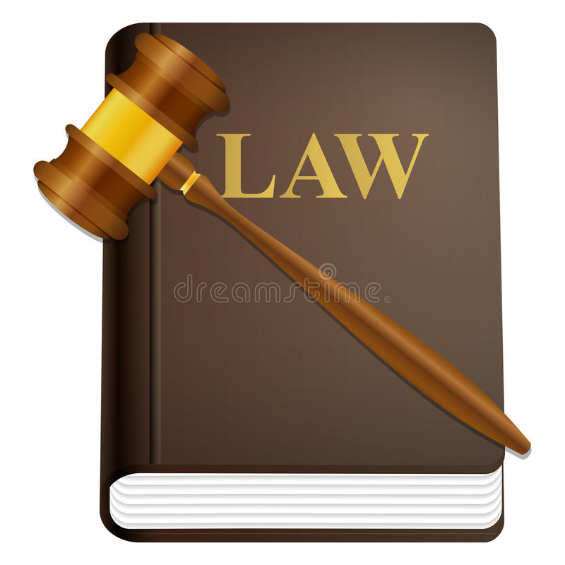 Download Law book and gavel stock vector. Image of element, page - 25101157