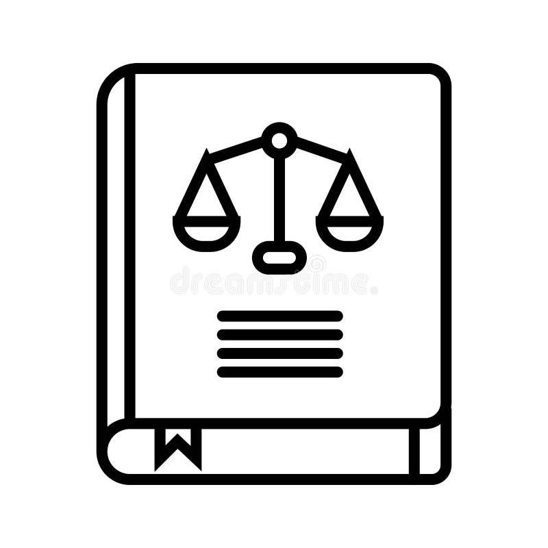 Law book icon vector illustration