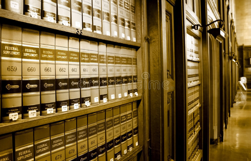 Law Book Library royalty free stock photography