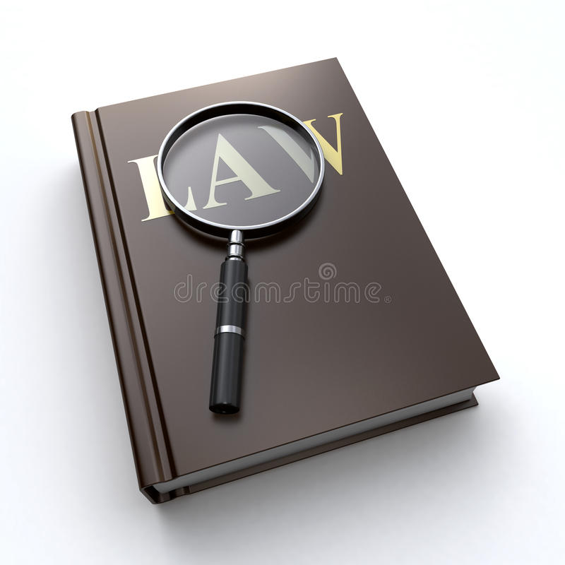 Download Law book and a magnifier stock illustration. Illustration of trial - 26695414