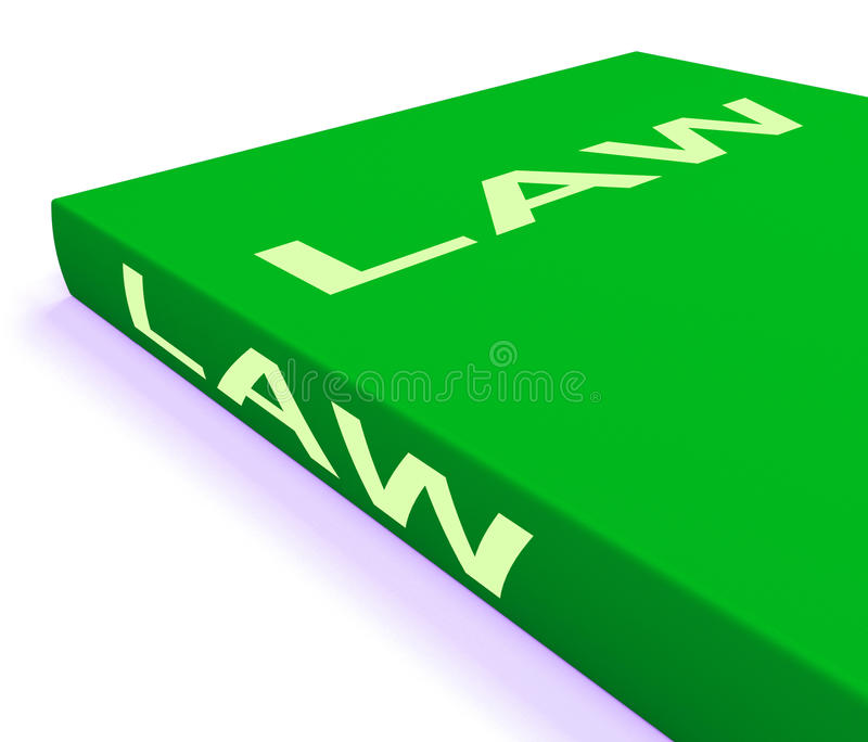 Law Book Shows Books About Legal Justice stock illustration