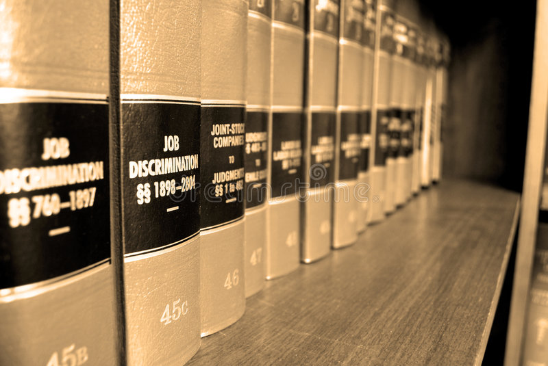 Law Books on Job Discrimination royalty free stock photos
