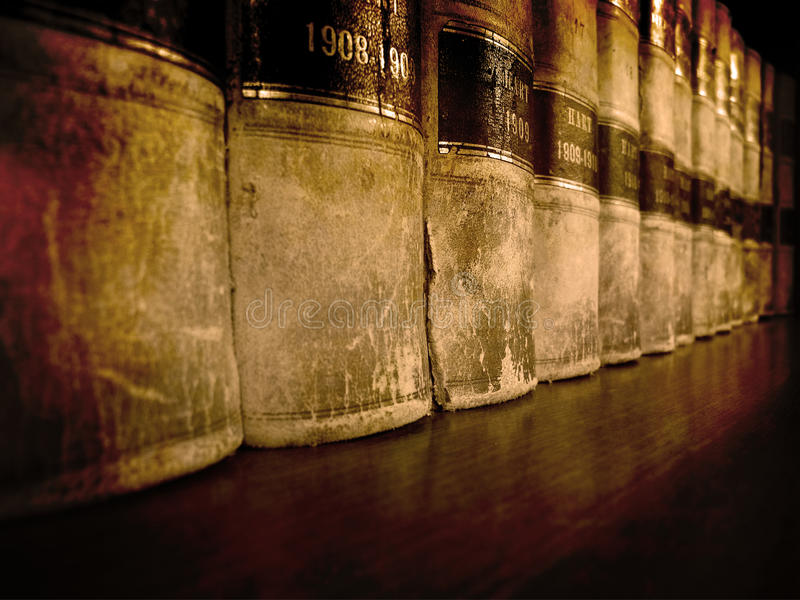 Law Books on Shelf stock images