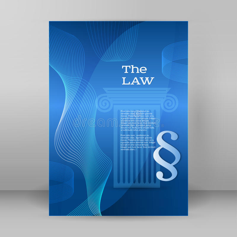 Law business style presentation template format A4 Cover page vector illustration