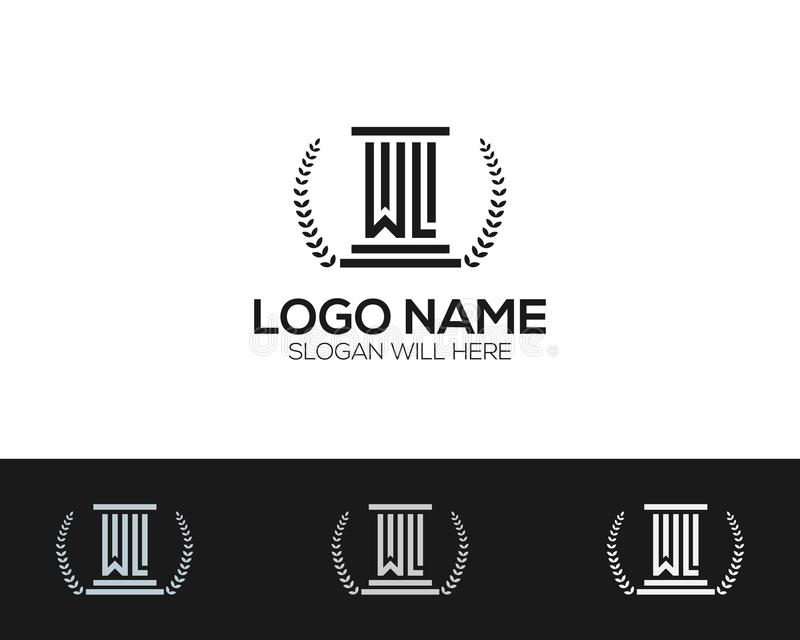Law Company Logo Template online store vectors illustration. This is very easy to use. U ca Use as your won simply royalty free illustration