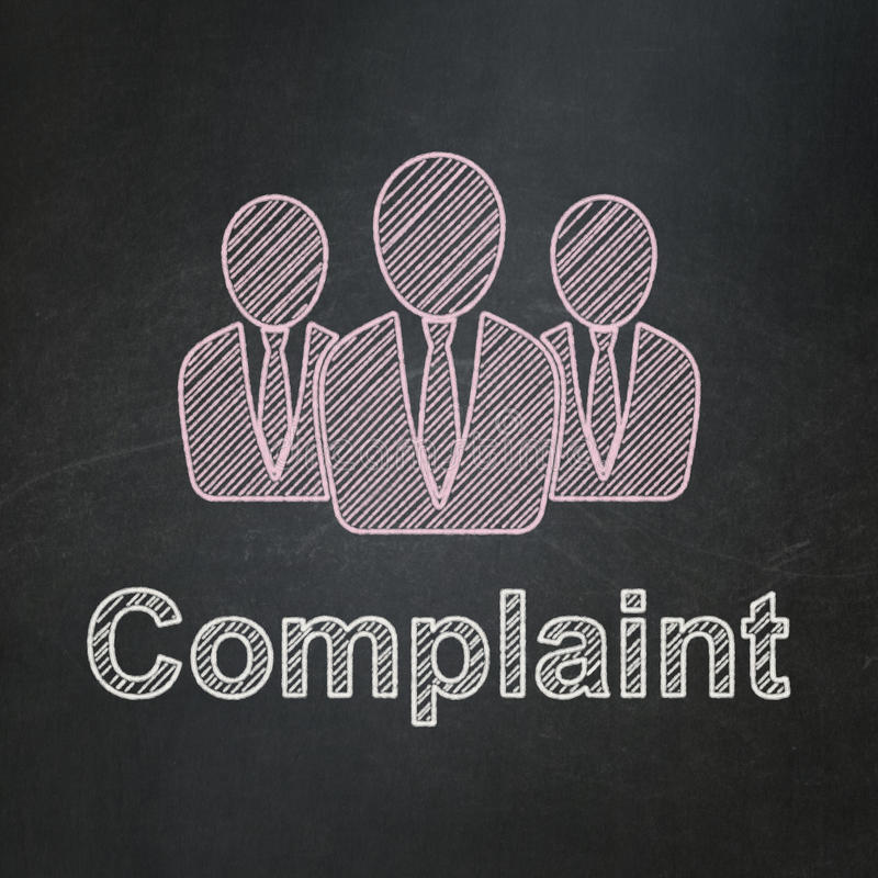 Law concept: Business People and Complaint on stock illustration