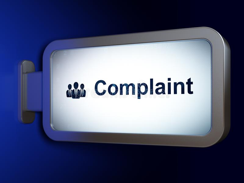 Law concept: Complaint and Business People on billboard background stock illustration