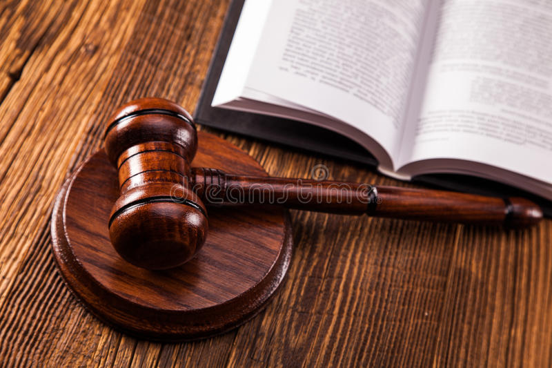 Law concept. Law code stock images