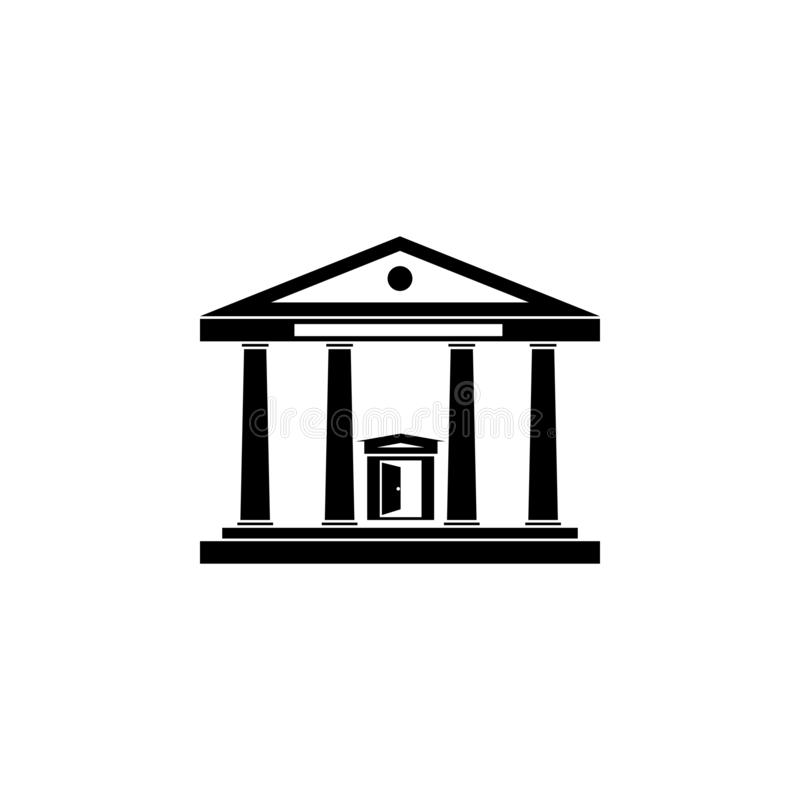 Court house government office, building icon. Court house government office, building icon vector stock illustration