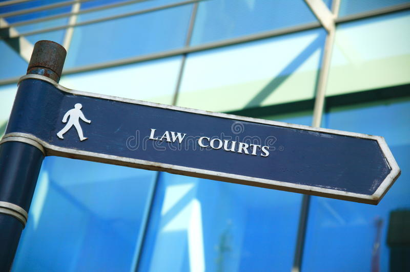 Download Law courts direction sign stock photo. Image of trial - 17816626