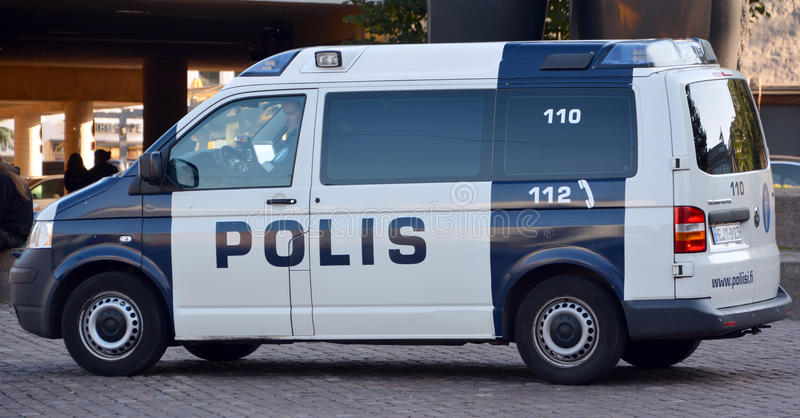 Law enforcement in Finland. HELSINKI FINLAND 09 27 2015: Law enforcement in Finland is the responsibility of several agencies. The national police agency.The two royalty free stock photography