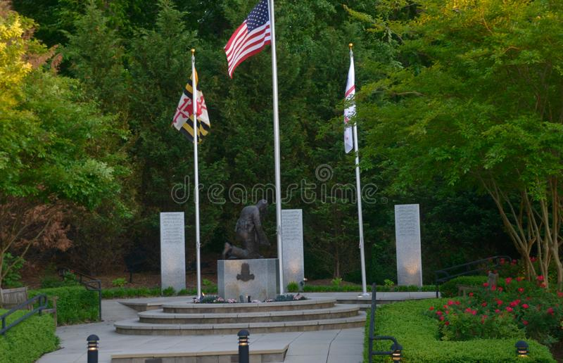 A law enforcement memorial. In Upper Marlboro, Maryland stock photo