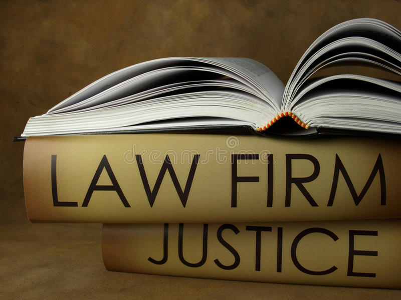 Law firm books stock photo