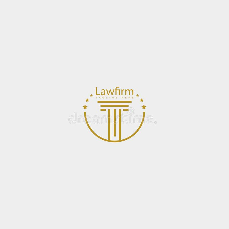 Law firm, advocate creative logo template with business card. Law firm, advocate creative logo template vector illustration with business card - vector stock illustration