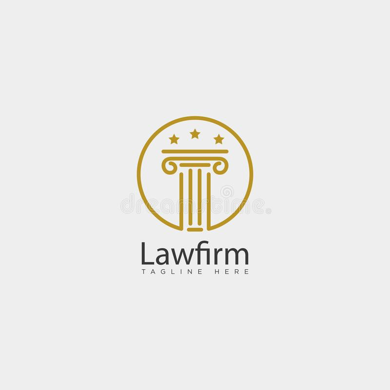 Law firm, advocate creative logo template with business card. Law firm, advocate creative logo template vector illustration with business card - vector vector illustration