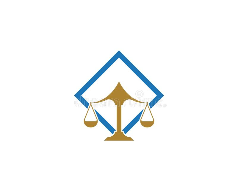 Law firm justice icon logo design vector. Institution judge judgement ministry monument monumental old palace peace principle silhouette straight symbol stock illustration