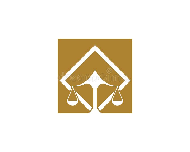 Law firm justice icon logo design vector. Institution judge judgement ministry monument monumental old palace peace principle silhouette straight symbol vector illustration