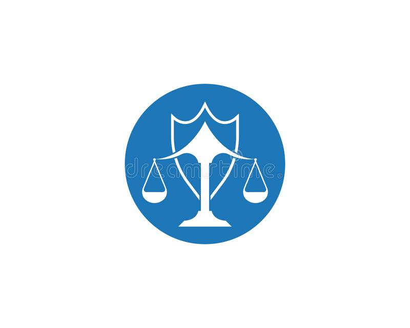 Law firm justice icon logo design vector. Institution judge judgement ministry monument monumental old palace peace principle silhouette straight symbol royalty free illustration