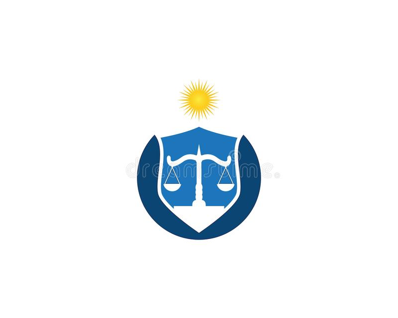 Law firm and justice logo vector template.  vector illustration