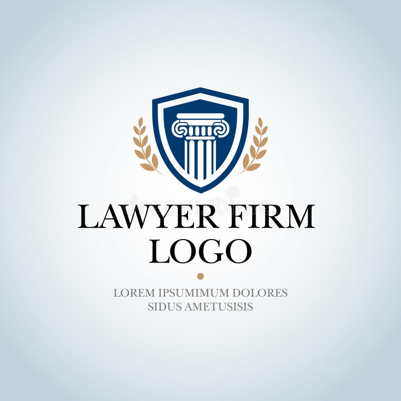 Law Firm,Law Office, Lawyer services, Isolated Vector logo template. Law Firm,Law Office, Lawyer services, Isolated Vector logo template stock illustration