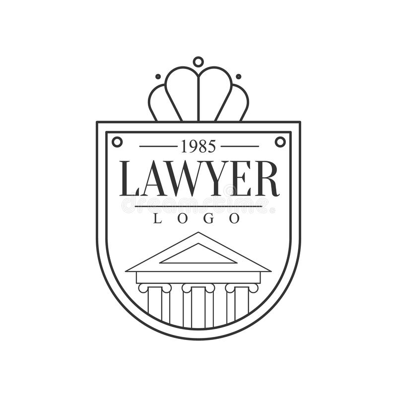 Law Firm And Lawyer Office Black And White Shield Shaped Logo