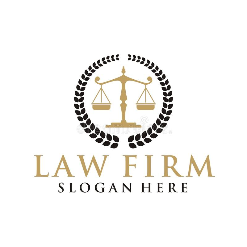 Law firm logo.  royalty free illustration