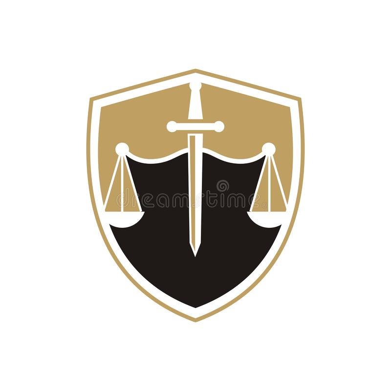 Law firm logo.  stock illustration
