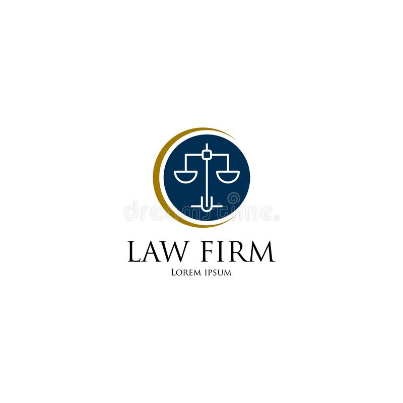 Law Firm Logo art. Template for business vector illustration