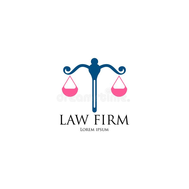 Law Firm Logo art. Template for business royalty free illustration