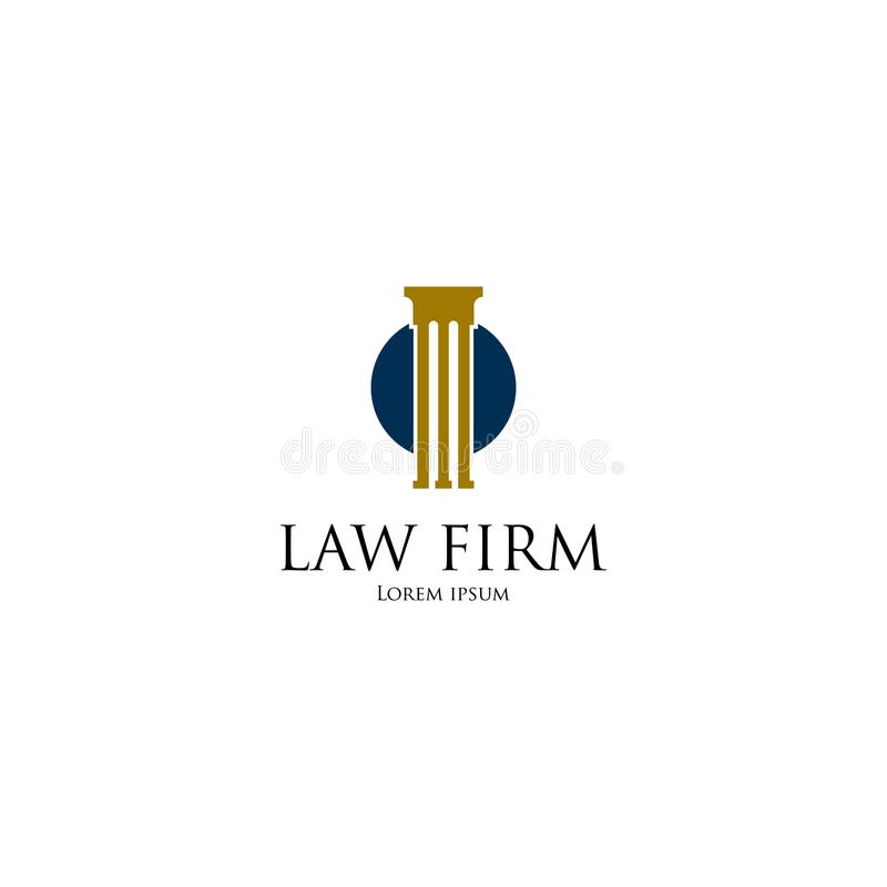 Law Firm Logo art. Template for business stock illustration