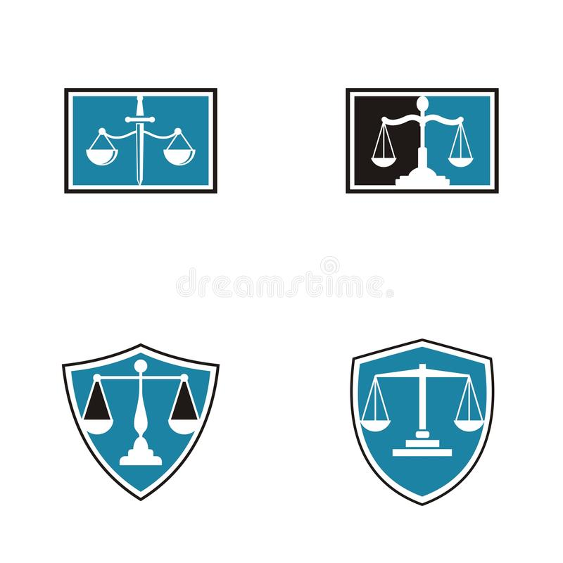 Law firm logo design.  stock illustration